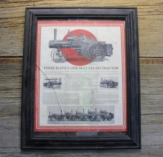 Framed Original Case Steam Engine Flyer