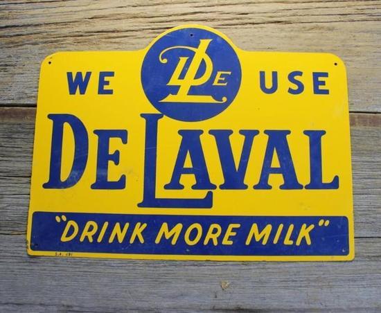De Laval cream separator tin sig