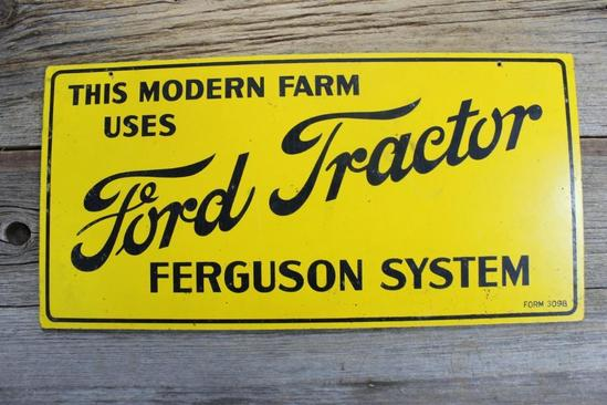 Ford Tractor Ferguson System Sign