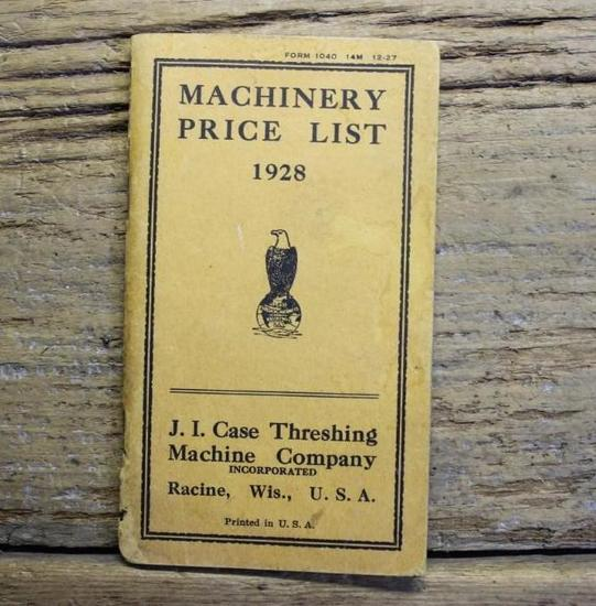 J.I. Case Machinery Price List