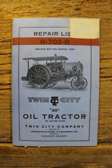 "Repair List R-702-B ""40"" Twin City"