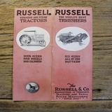 Russell Kerosene and Steam Tractors Brochure
