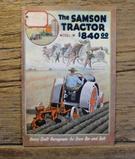 The Samson Tractor Model M Catalog
