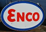 Enco Porcelain Petroleum Large Double Sided Sign