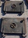 Pair of Cast Boiler Doors