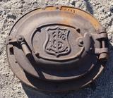 T. S. Co. Cast Iron Boiler Stove Door.