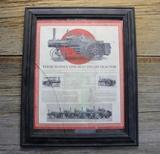 Framed Original Case Steam Engine Flyer