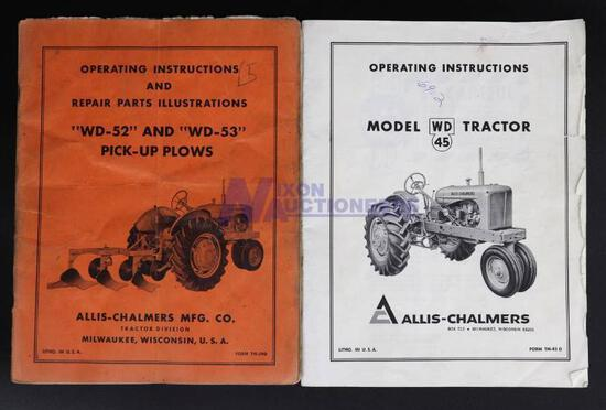 Operating Instructions for Allis-Chalmers WD45 and WD-52 & WD-53 Pick-Up Plows