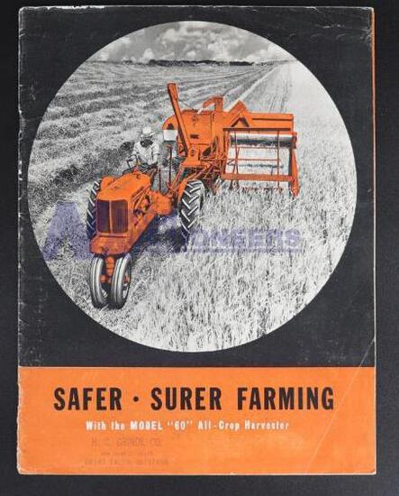 "Allis-Chalmers Safer - Surer Farming With The Model ""60"" All-Crop Harvester"