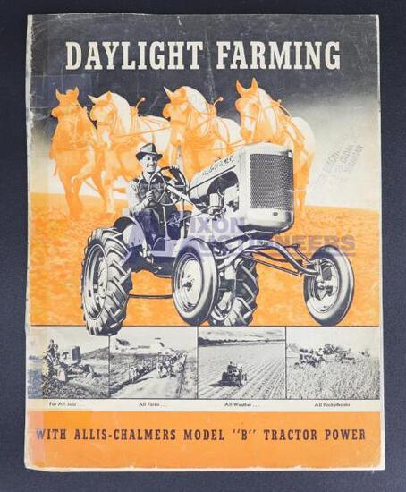 Daylight Farming with Allis-Chalmers Model B Tractor Power