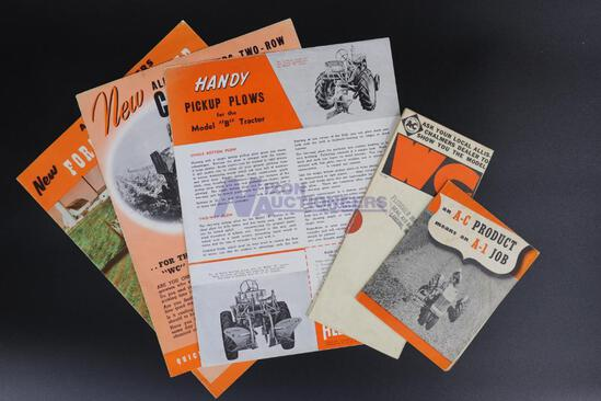 Five Allis-Chalmers Implement Brochures