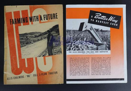 Farming With A Future with Allis-Chalmers WC Full 2-Plow Tractor & Two-Row Corn Harvester Brochure