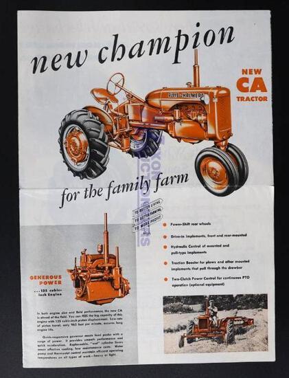Assort Allis-Chalmers Tractor Brochures