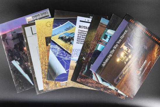 Nine Assorted Gleaner, Deutz-Allis & AGCO Combine Brochures