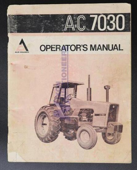 Allis-Chalmers 7030 Operators Manual