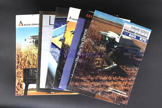 Six Assorted Allis-Chalmers & Gleaner Combine Brochures