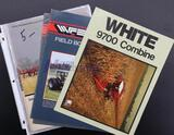 White 9700 Combine, WFE 2-55/2-65-2-47 Field Boss Tractors, Assorted White Equipment Advertisements
