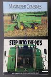Two John Deere Combine Brochures