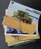 Five Assorted John Deere Combine Brochures