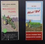 Two Assorted John Deere Pamphlets - Moldboard Plows and Van Brunt Fertilizer Grain Drill