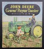 John Deere General Purpose Tractors Models A, B, GM & H