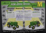 Large Folded John Deere Model M Brochure