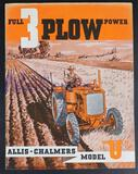 Allis-Chalmers Full 3 Plow Power Model U