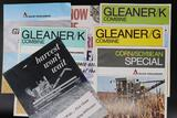 Eight Assorted Allis-Chalmers and Gleaner Combine Models K, F, G, & C Dealership Brochures