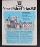 RARE Articulated Oliver 4-Wheel Drive 2655 Tractor Brochure