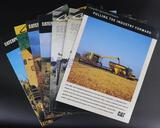 Seven Assorted Caterpillar Combine Brochures