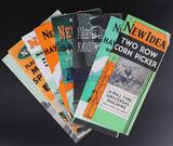 Eight Assorted New Idea Brochures - Manure Spreaders, Rakes/Tedders, Horse & Tractor Mowers and more