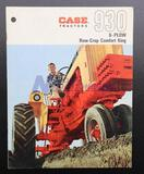 Case 930 6-Plow Row-Crop Comfort King Brochure