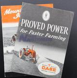 Model D Series Case 3-Plow Size Tractor and Mounted Implements for Case SC & DC Tractors