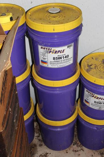 3 Five Gallon Buckets of Royal Purple Max-Gear 85W140 High Performance Gear Oil