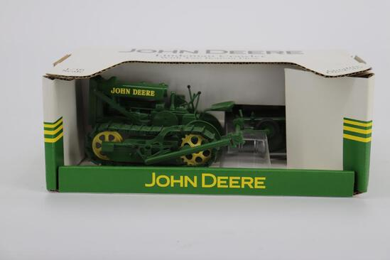 1/16 Spec Cast John Deere Lindeman Crawler with Two Bottom Plow