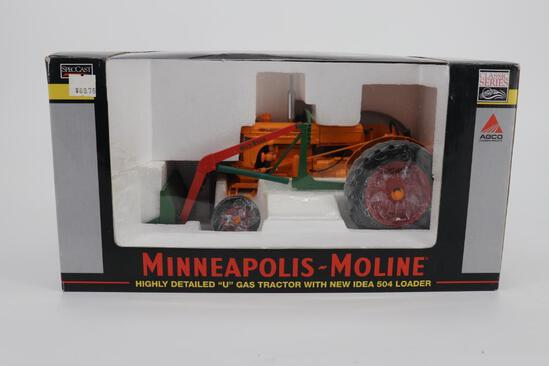 1/16 Spec Cast Minneapolis-Moline Highly Detailed U Gas Tractor with New Idea 504 Loader