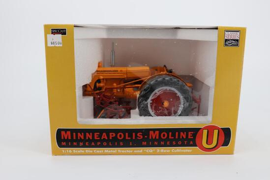 "1/16 Spec Cast Minneapolis-Moline U & ""CQ"" Two Row Cultivator"
