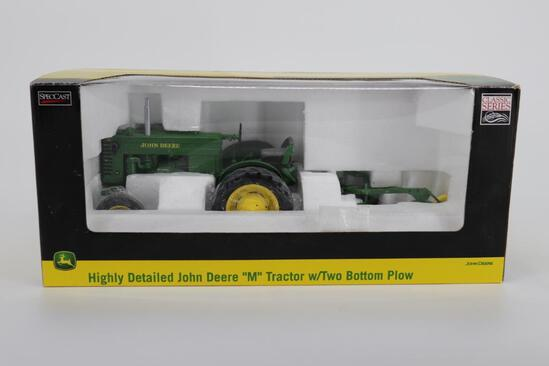1/16 Spec Cast Highly Detailed John Deere M with Two Bottom Plow