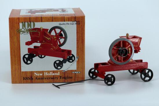 ERTL 1/8 New Holland 100th Anniversary Engine. On Trucks