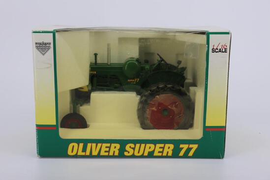 1/16 Spec Cast Oliver Super 77 Hi-Bid LP Gas Tractor From The Mark Twain Great River Toy Show