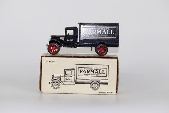 ERTL 1/34 1931 Hawkeye Truck Bank with McCormick-Deering Farmall on Side