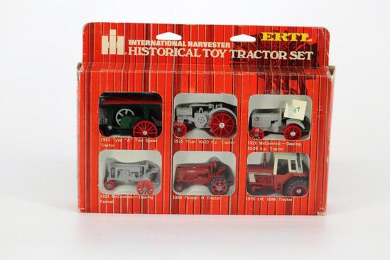 ERTL International Harvester Historical Toy Tractor Set