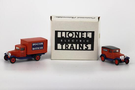 ERTL Trucks with Lionel Electric Trains Signs on sides