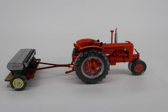 1/16 Spec Cast Highly Detailed Case DC Tractor with Case Grain Drill