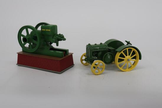 1/6 Battery Operated Model E John Deere Gas Engine & John Deere Model D Tractor