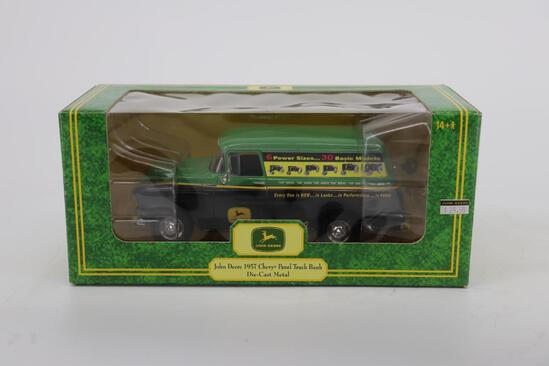 Die-Cast John Deere 1957 Chevy Panel Truck Bank