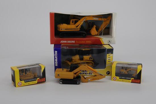 Lot of 5 JD Excavator 200LC, Komatsu D51 EXI-22, Two Caterpillar Construction Mini's & JD Excavator