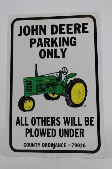 John Deere Parking Only Metal Sign