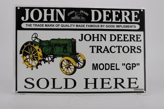 John Deere Tractors Model GP Sold Here Metal Sign