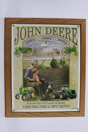 John Deere Metal Sign